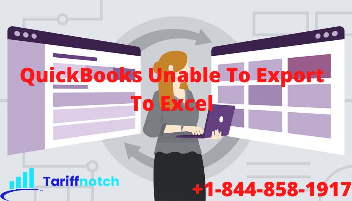 QuickBooks Unable To Export To Excel