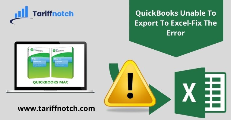 QuickBooks Unable To Export To Excel-Fix The Error