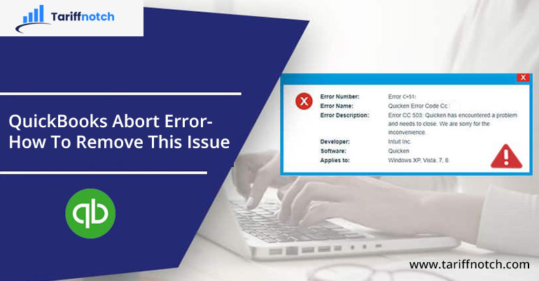 QuickBooks Abort Error- How To Remove This Issue