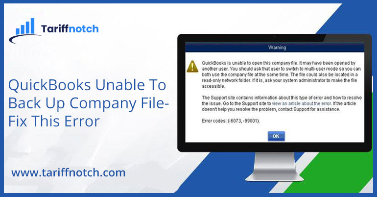 QuickBooks Unable To Back Up Company File- Fix This Error