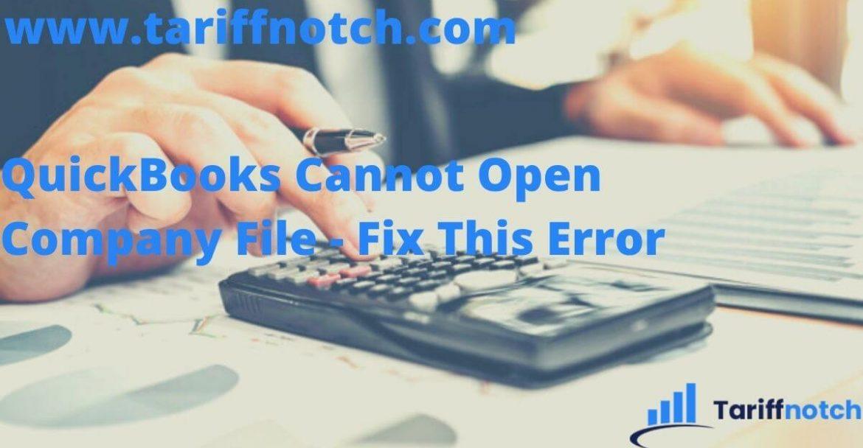 QuickBooks Cannot Open Company File